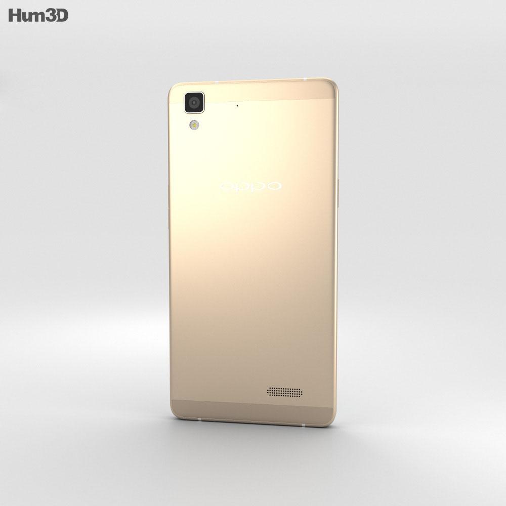 Oppo R7 Golden 3d model