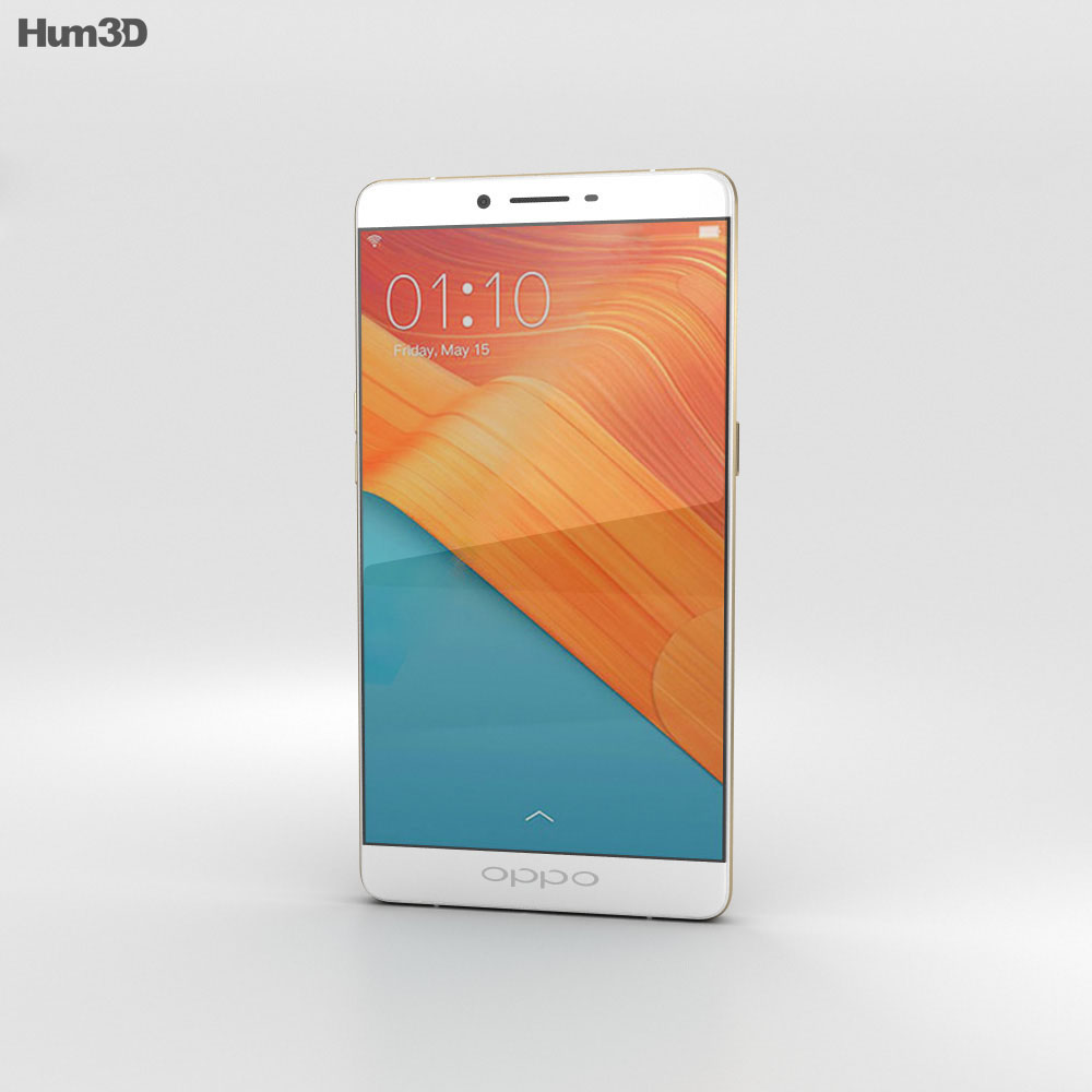 Oppo R7 Plus Golden 3d model