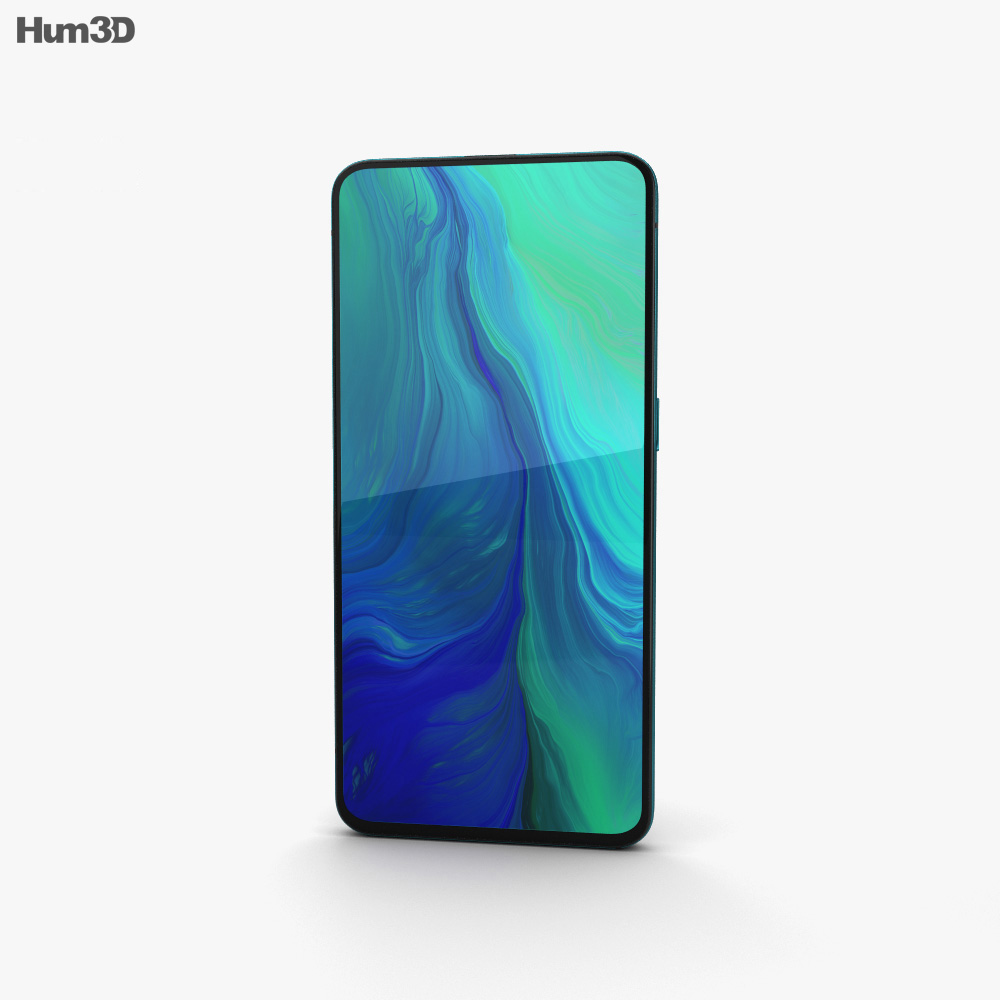 Oppo Reno 10x zoom Ocean Green 3d model