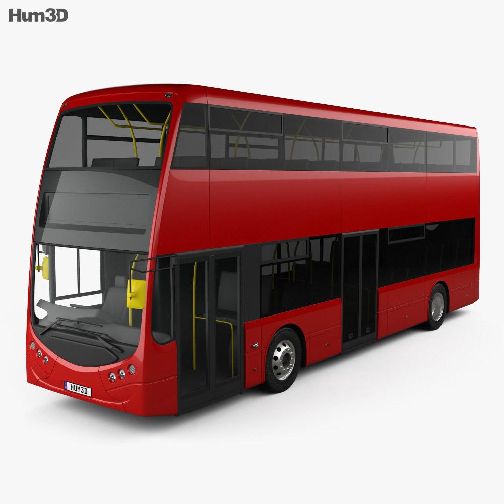 Optare MetroDecker Bus 2014 3d model
