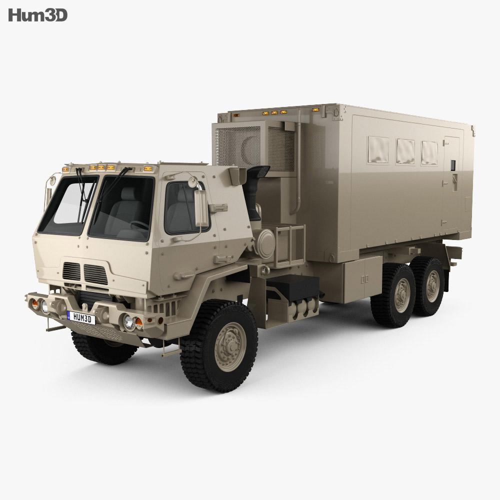 Oshkosh FMTV M1087 A1P2 Expansible Van Truck 2016 Modelo 3d