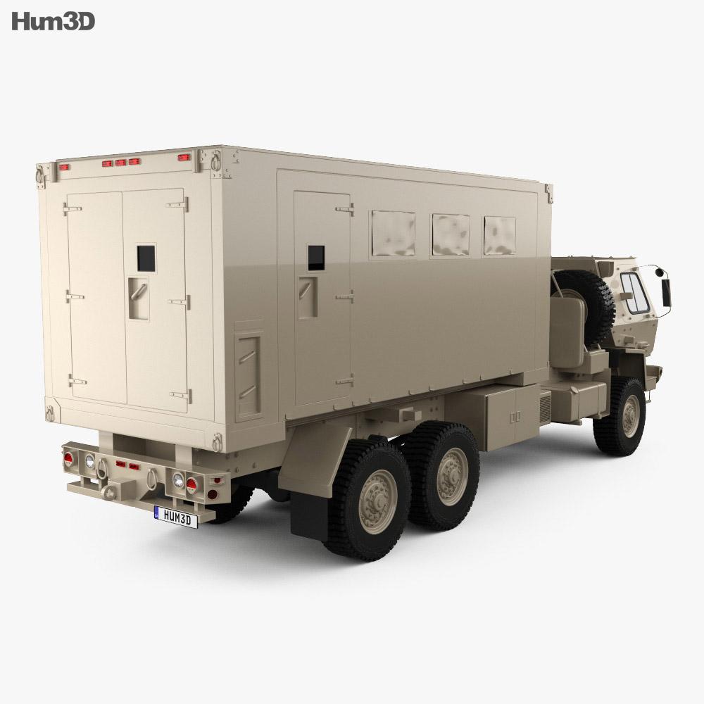 Oshkosh FMTV M1087 A1P2 Expansible Van Truck 2016 Modelo 3d vista traseira