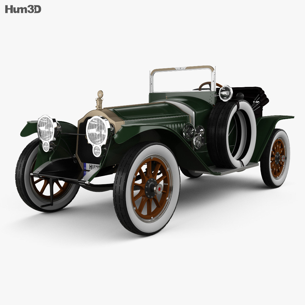 3D model of Packard Indy 500 Pace Car 1915