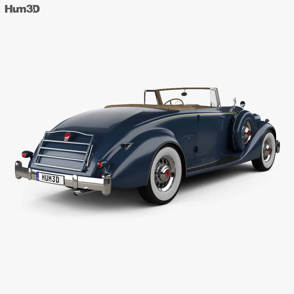 Packard Twelve Coupe Roadster 1936 3d model