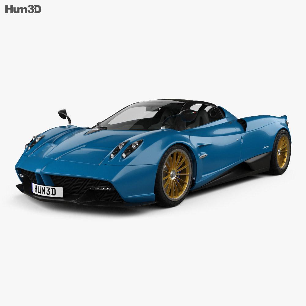 Pagani Huayra Roadster 2017 3D Model