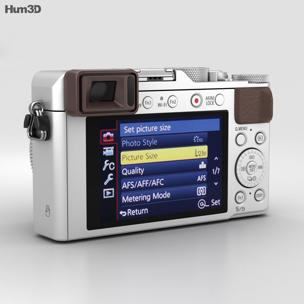 Panasonic Lumix DMC-LX100 Silver 3d model