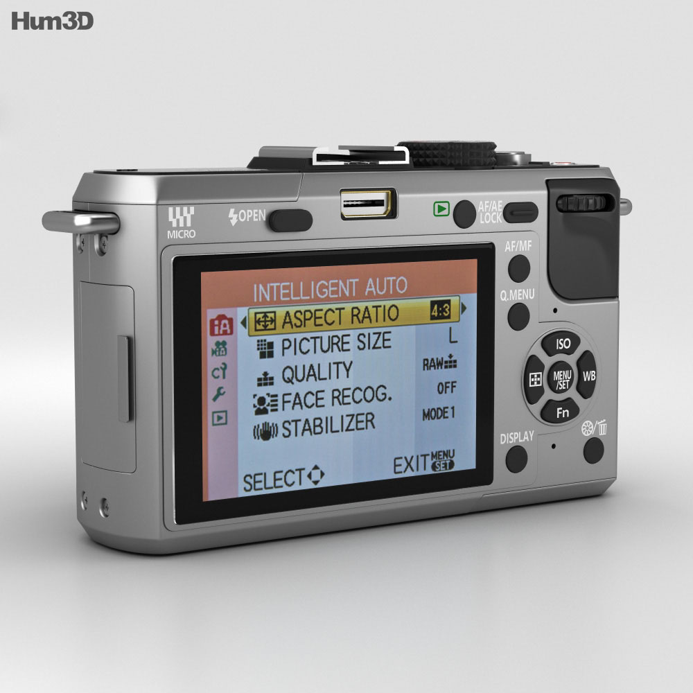Panasonic Lumix DMC-GF1 Silver 3d model