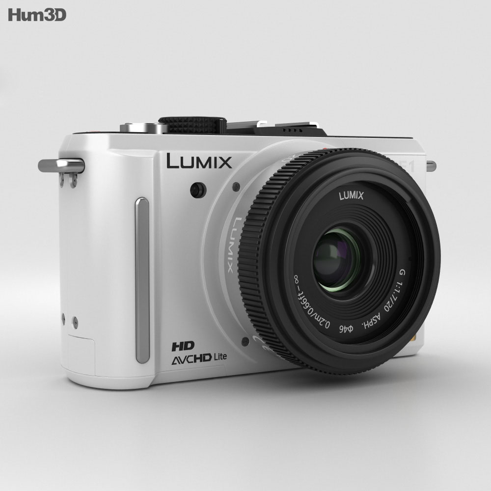 Panasonic Lumix DMC-GF1 White 3d model