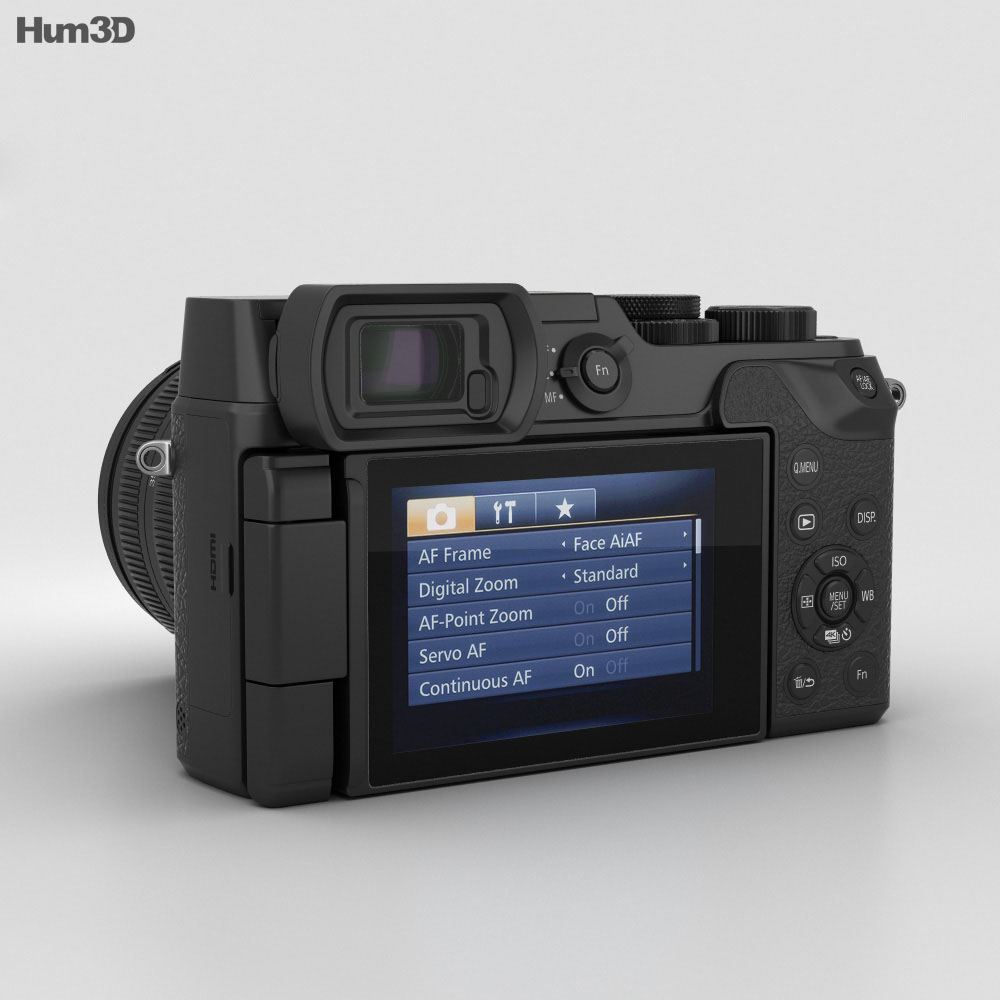 Panasonic Lumix DMC-GX8 Black 3d model