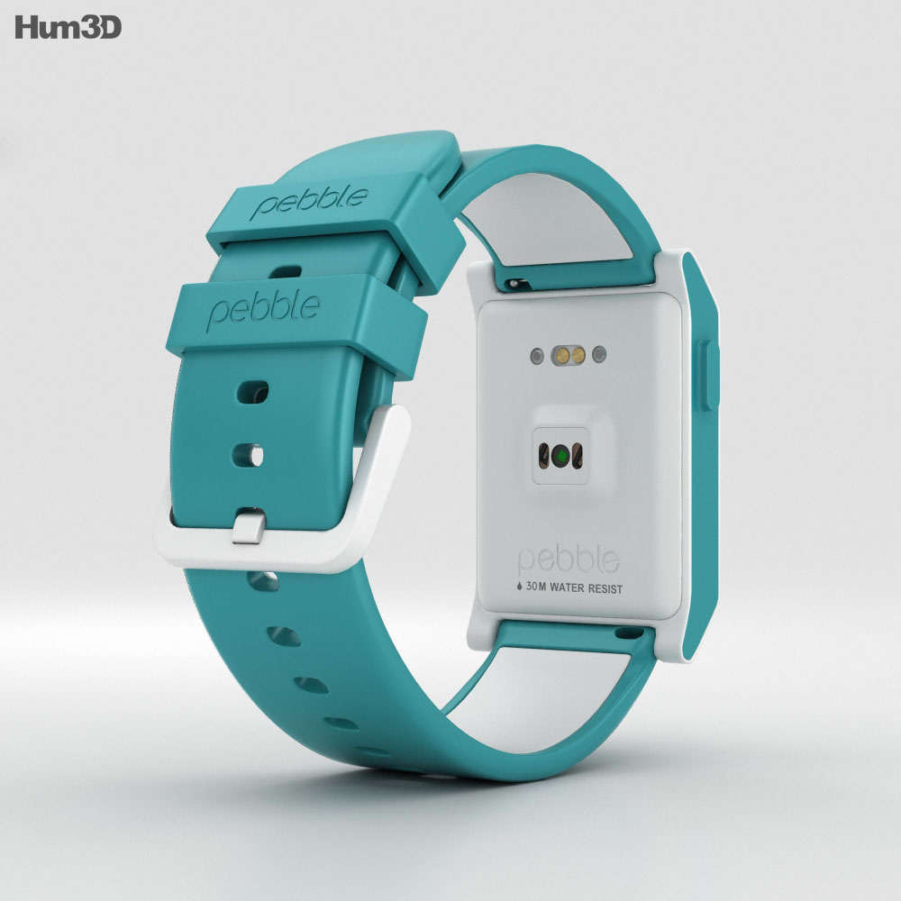 Pebble 2 Aqua / White 3d model