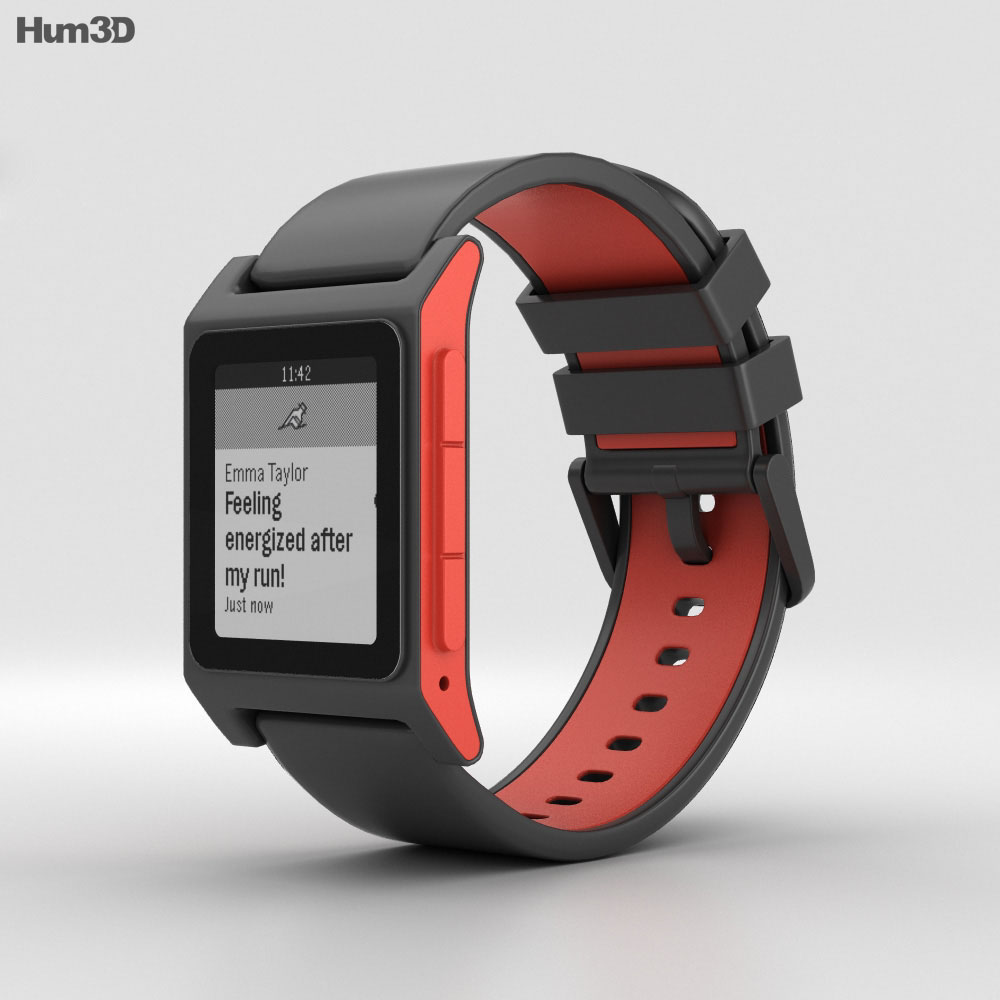 Pebble 2 Charcoal / Flame 3d model