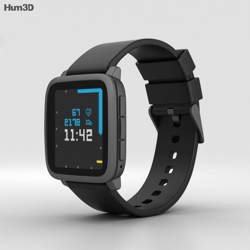 Pebble Time 2 Black 3d model