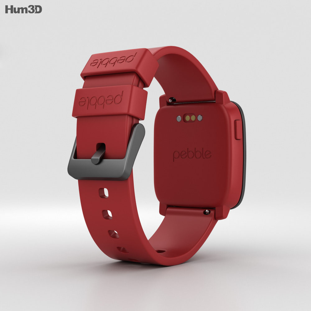 Pebble Time Red 3d model