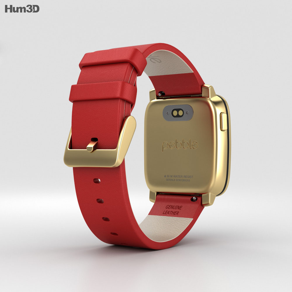 Pebble Time Steel Gold 3d model