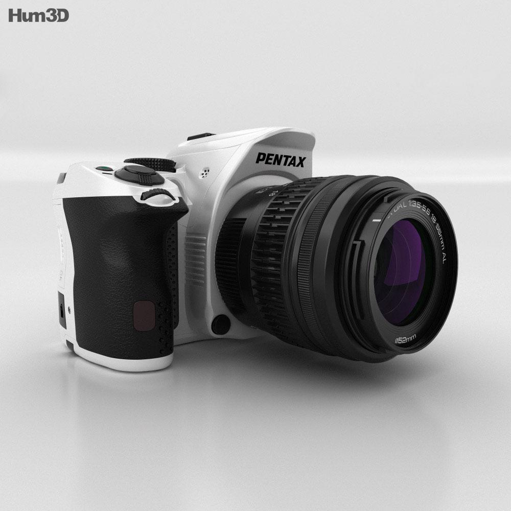 Pentax K-30 White 3d model