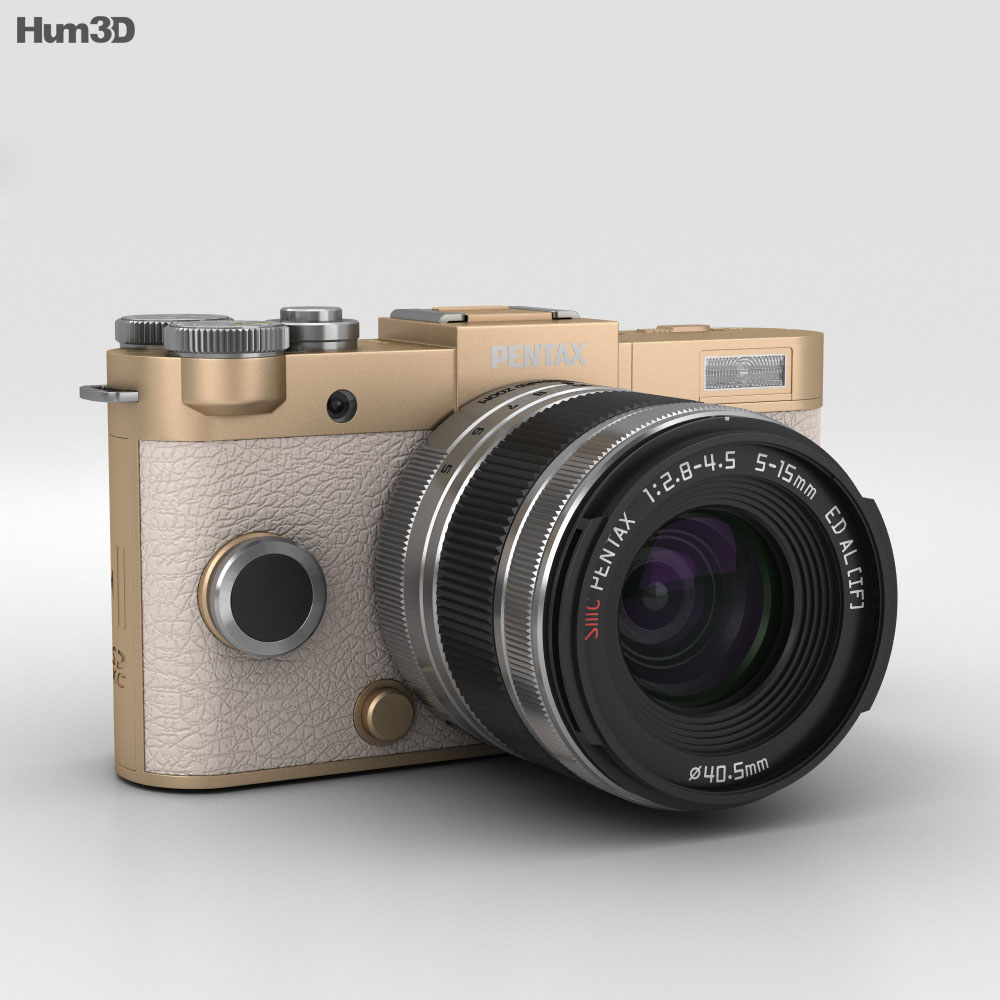 Pentax Q-S1 Champagne Gold 3d model