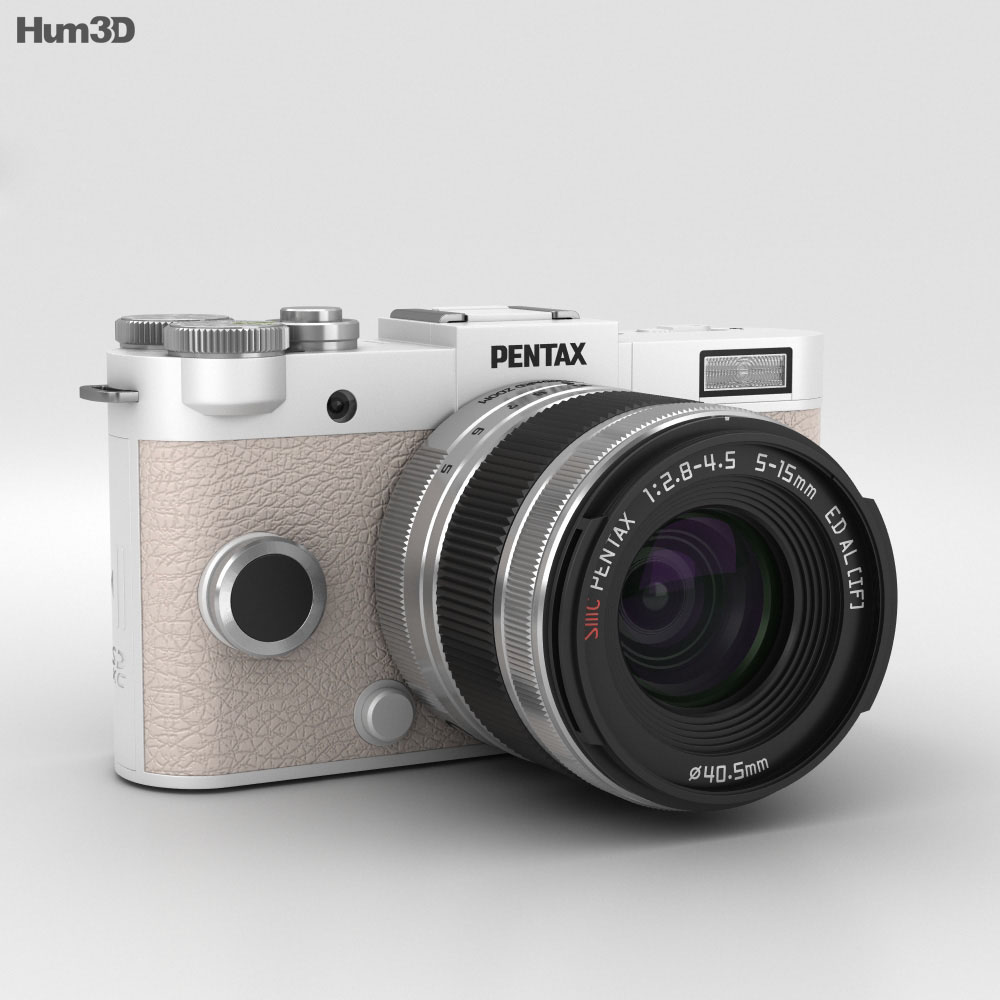Pentax Q-S1 Pure White 3d model