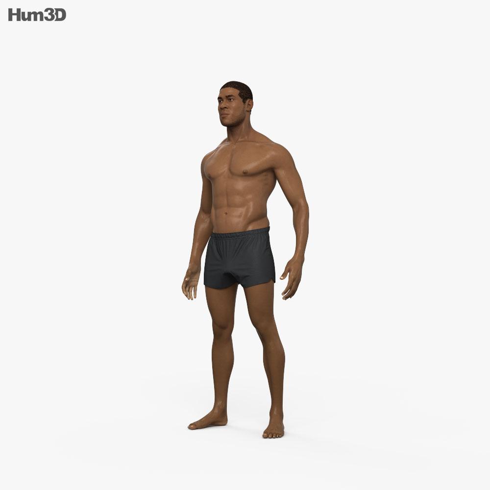 Afro-American Man 3d model