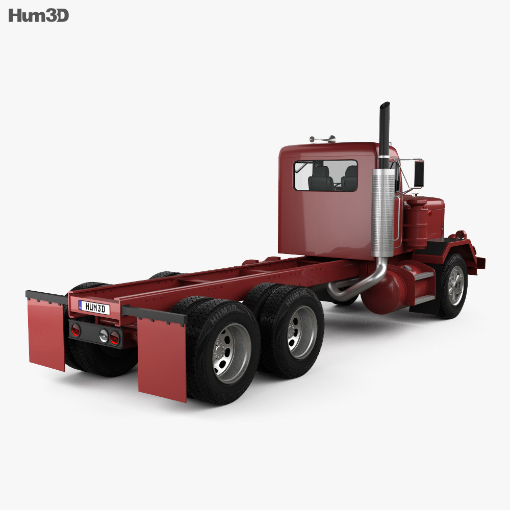 Peterbilt 353 Chassis Truck 1973 3d model