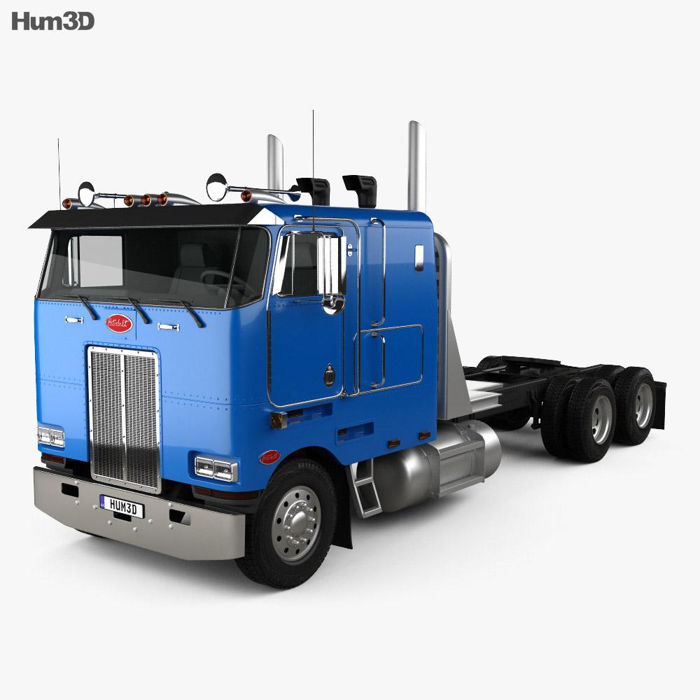 Peterbilt 362 Tractor Truck 2002 3D model