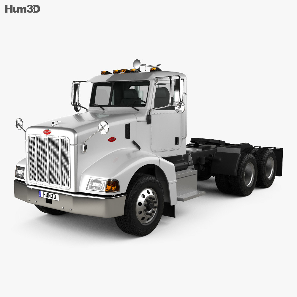 Peterbilt 385 Day Cab Tractor Truck 2007 3d model