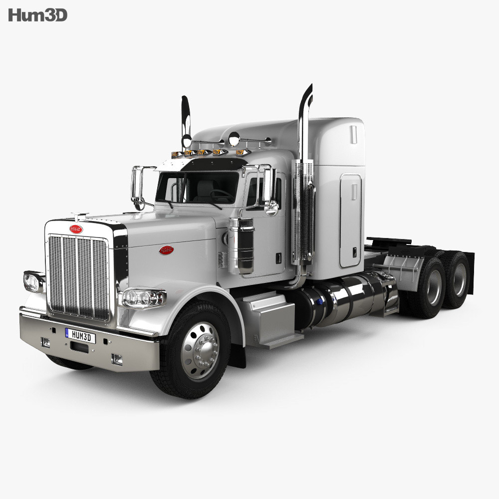 Peterbilt 388 Sleeper Cab Tractor Truck 2013 3d model