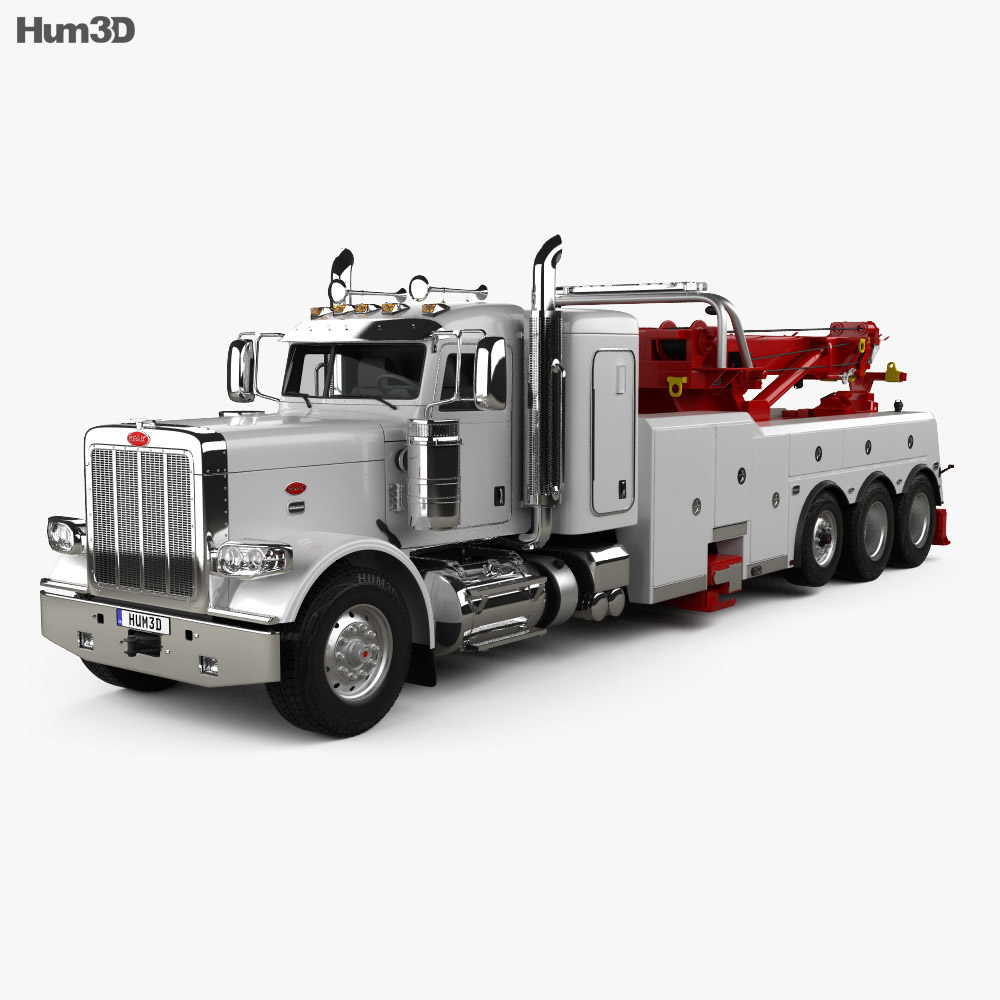 Peterbilt 388 Wrecker Truck 2014 3d model
