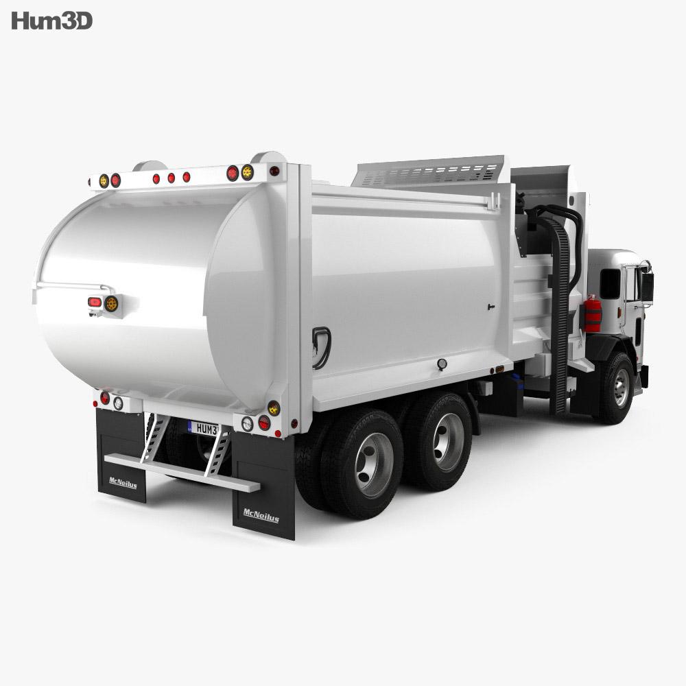 Peterbilt 520 Garbage Truck McNeilus 2016 3d model
