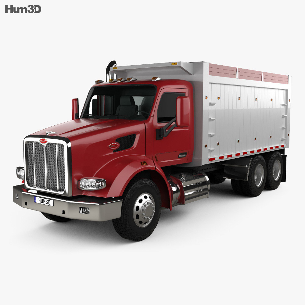 Peterbilt 567 Tipper Truck 2015 3d model