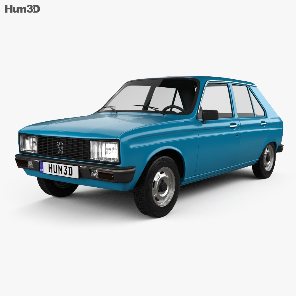 Peugeot 104 1976 3d model