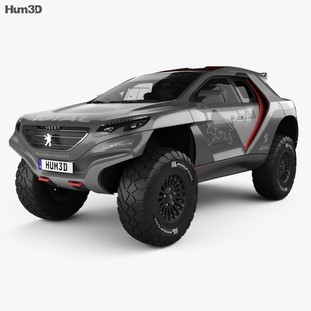 Peugeot 2008 DKR with HQ interior 2014 3d model