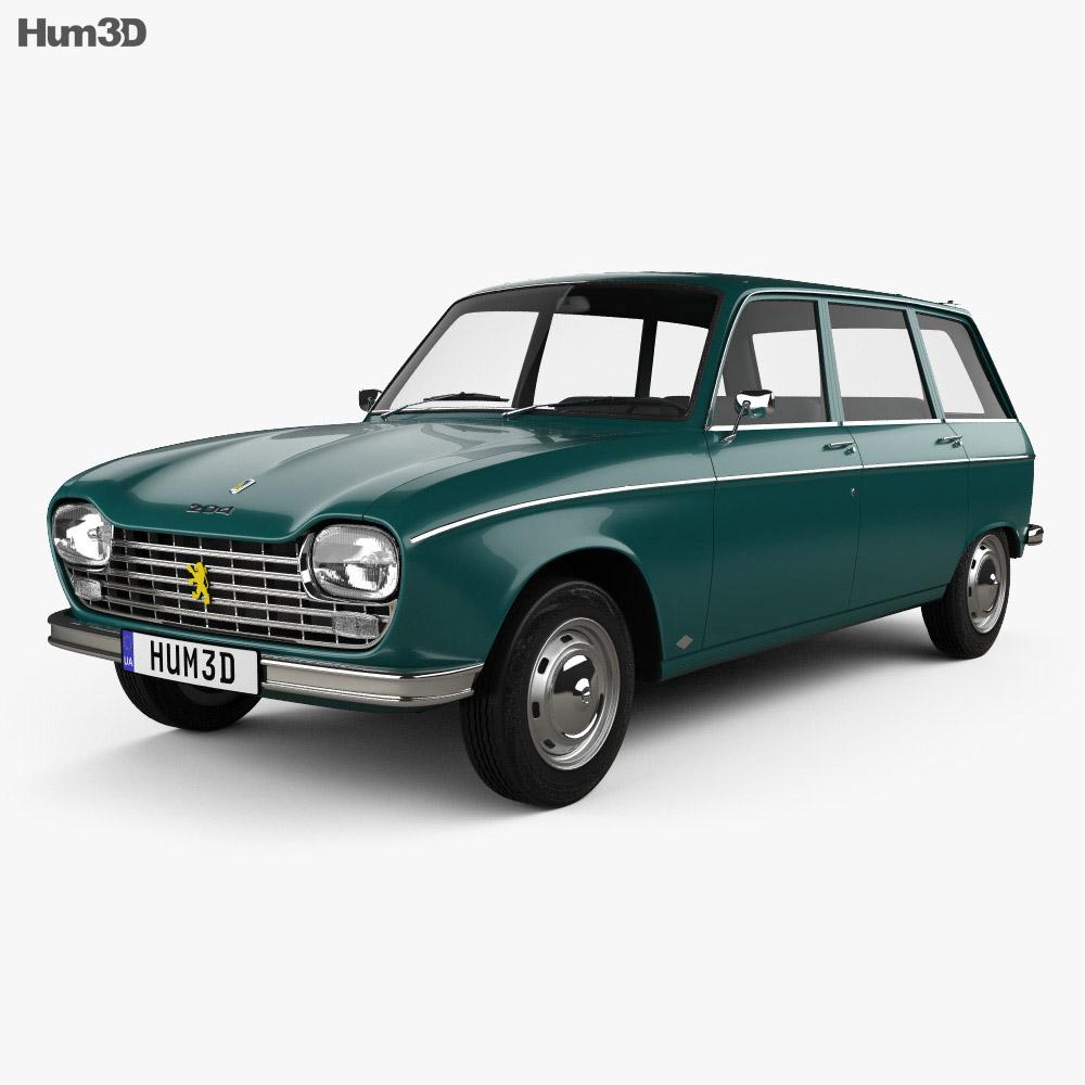 Peugeot 204 Break 1966 3d model