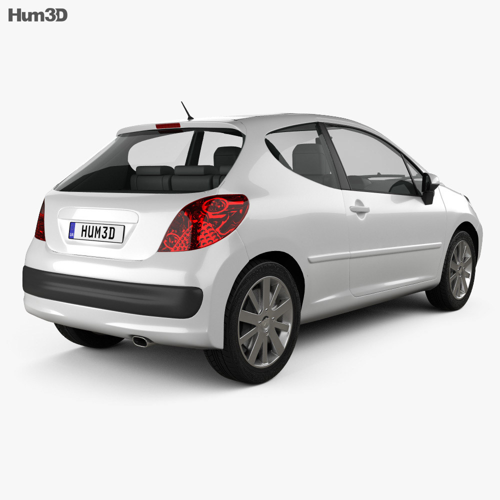 Peugeot 207 2006 3d model