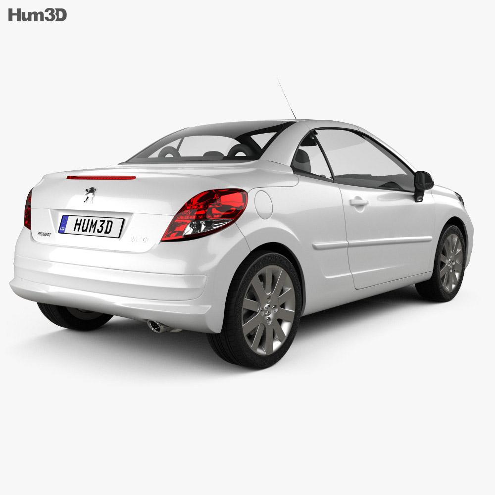 Peugeot 207 CC 2012 3d model