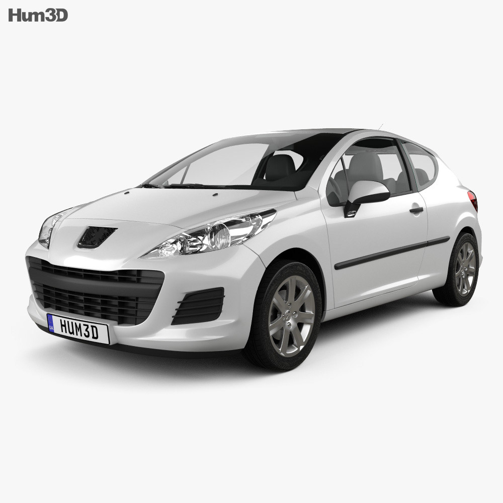 Peugeot 207 hatchback 3-door 2012 3d model