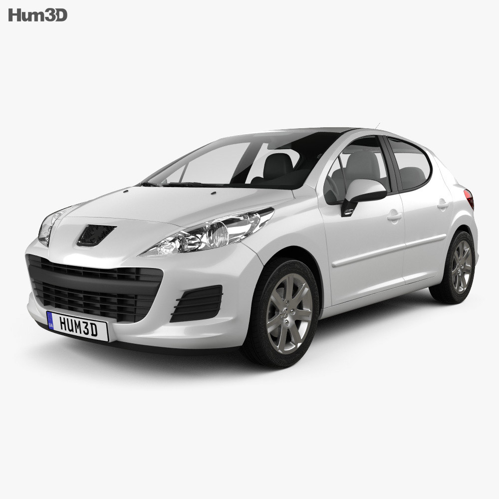 Peugeot 207 hatchback 5-door 2012 3d model