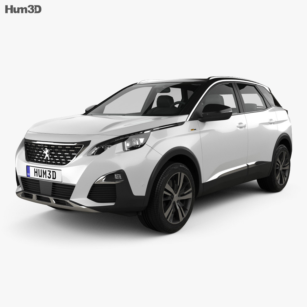 peugeot 3008 gt line 2016 3d model vehicles on hum3d. Black Bedroom Furniture Sets. Home Design Ideas