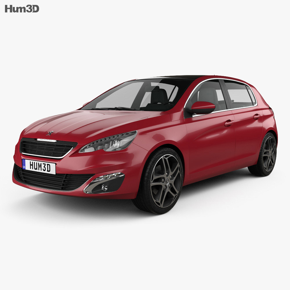 Peugeot 308 2014 3d model