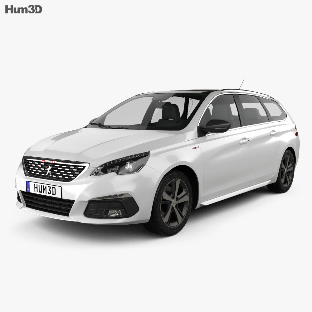 peugeot 308 sw gt line 2017 3d model vehicles on hum3d. Black Bedroom Furniture Sets. Home Design Ideas