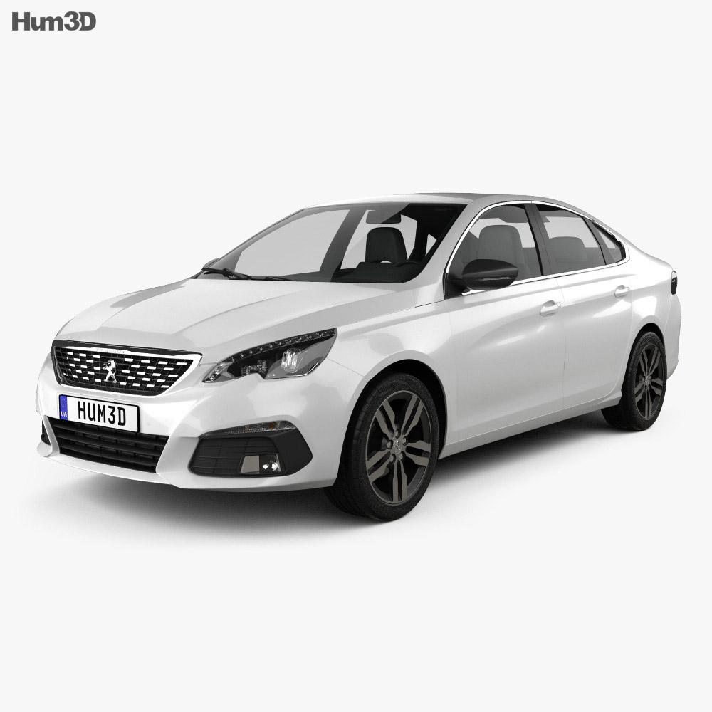 Peugeot 308 sedan 2017 3d model