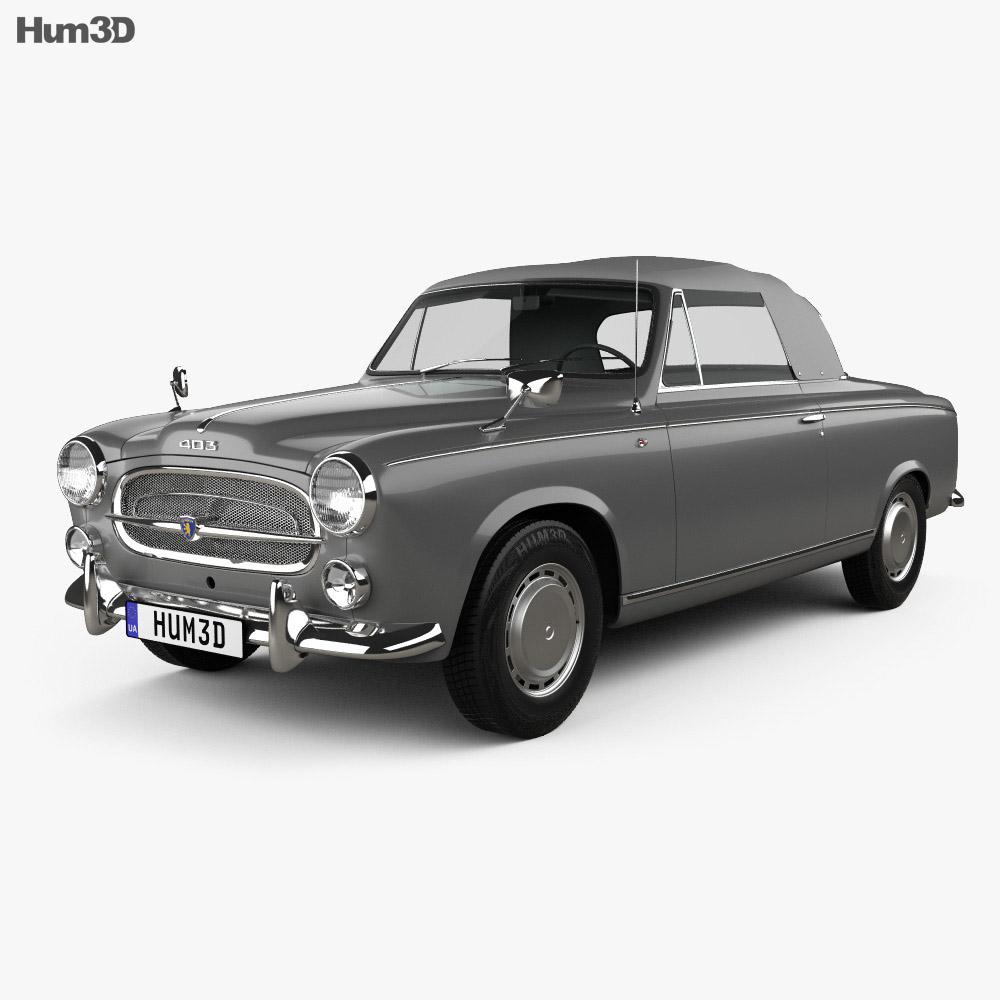 Peugeot 403 convertible 1959 3d model