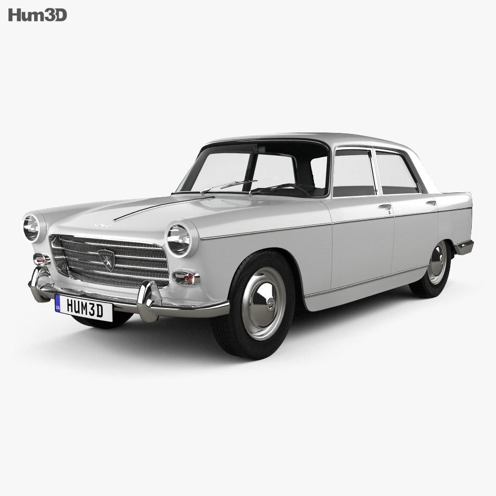 peugeot 404 berline 1960 3d model humster3d. Black Bedroom Furniture Sets. Home Design Ideas