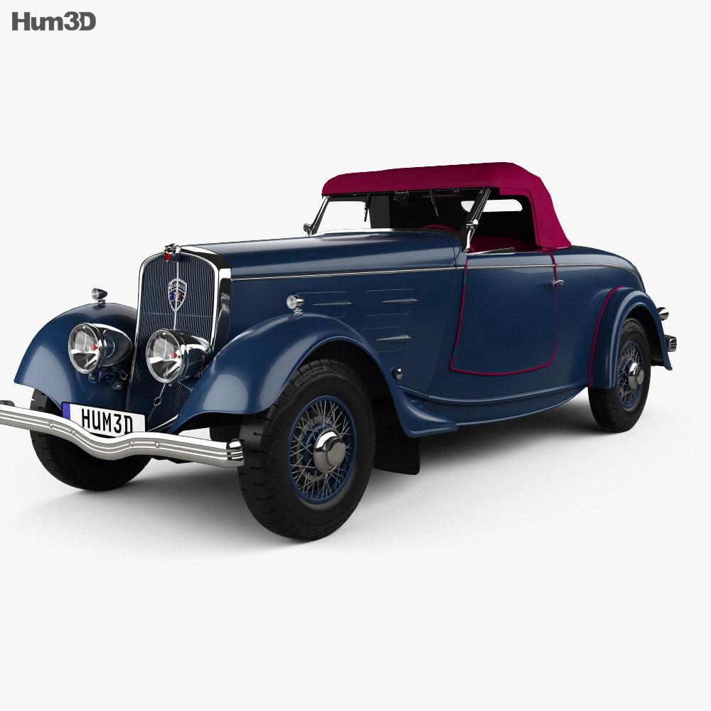 Peugeot 601 Roadster 1934 3D模型