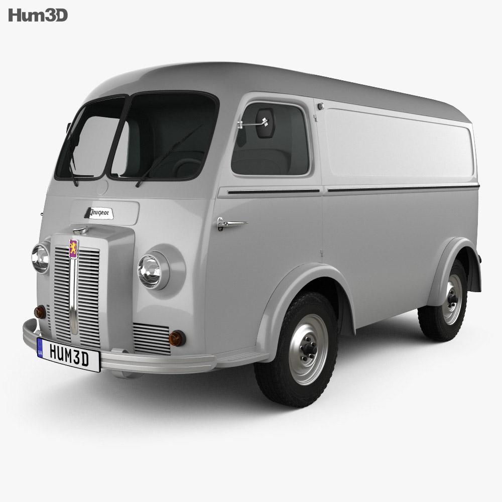 Peugeot D3A camionette 1954 3d model