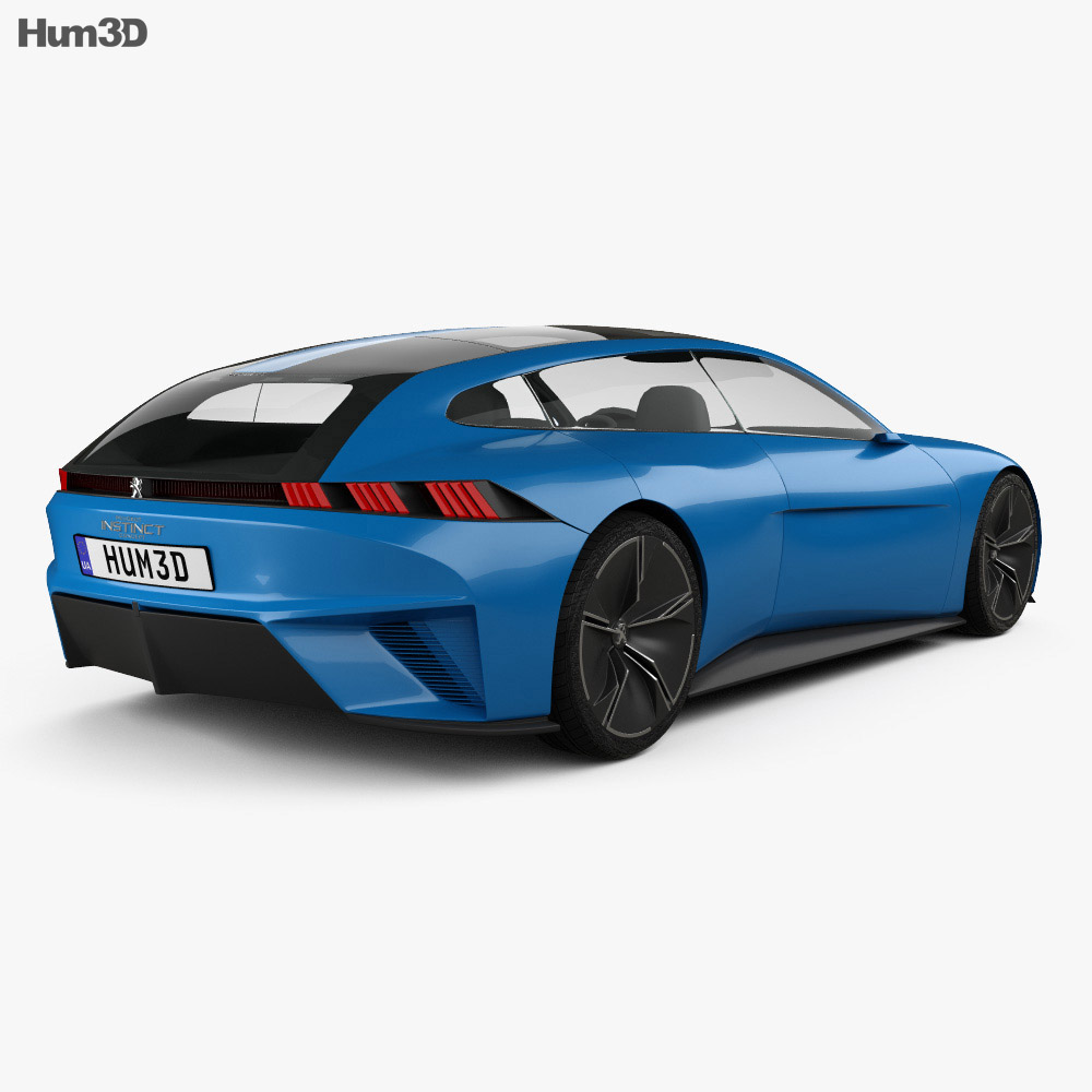 Peugeot Instinct 2017 3d model