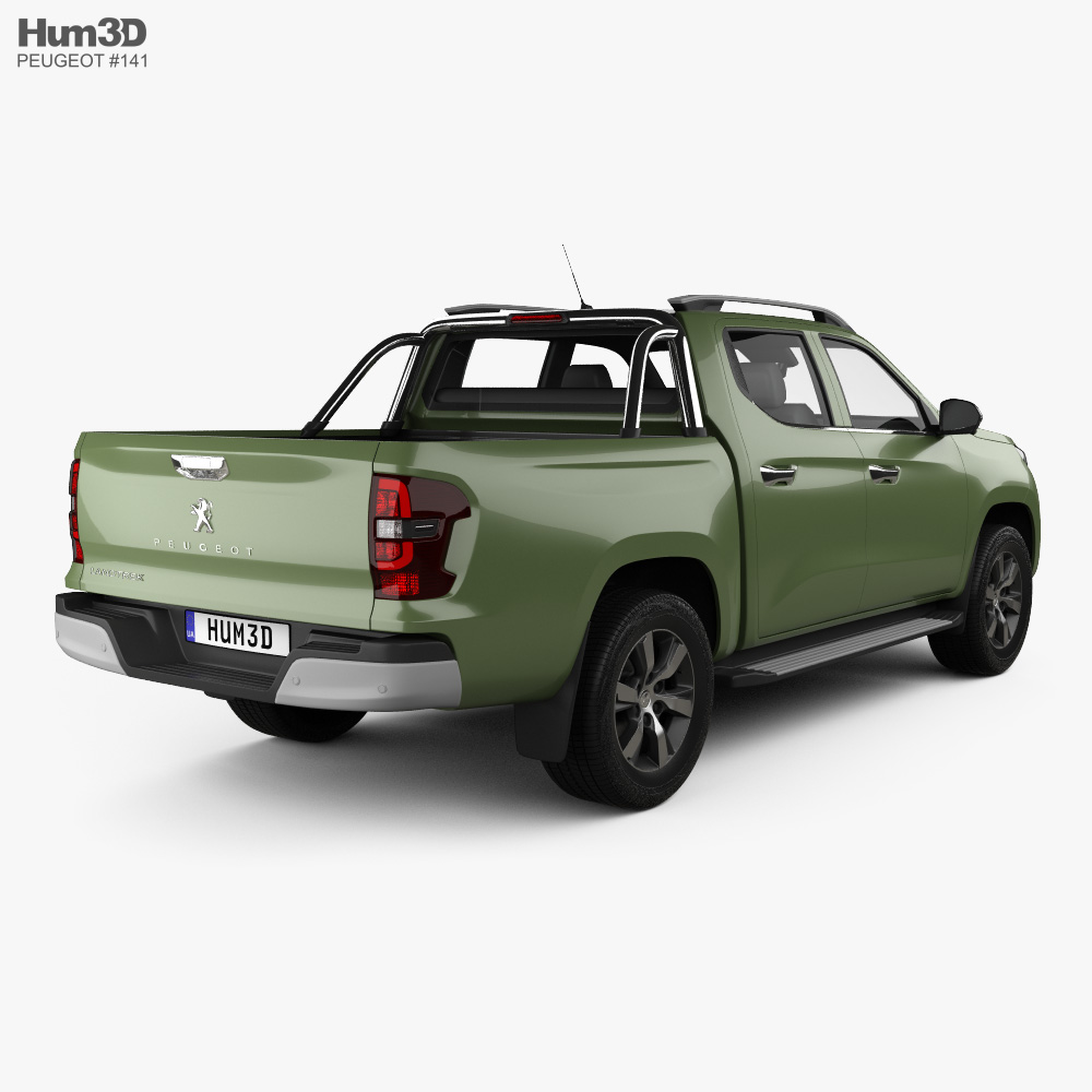 Peugeot Landtrek Double Cab Multi purpose 2020 3d model