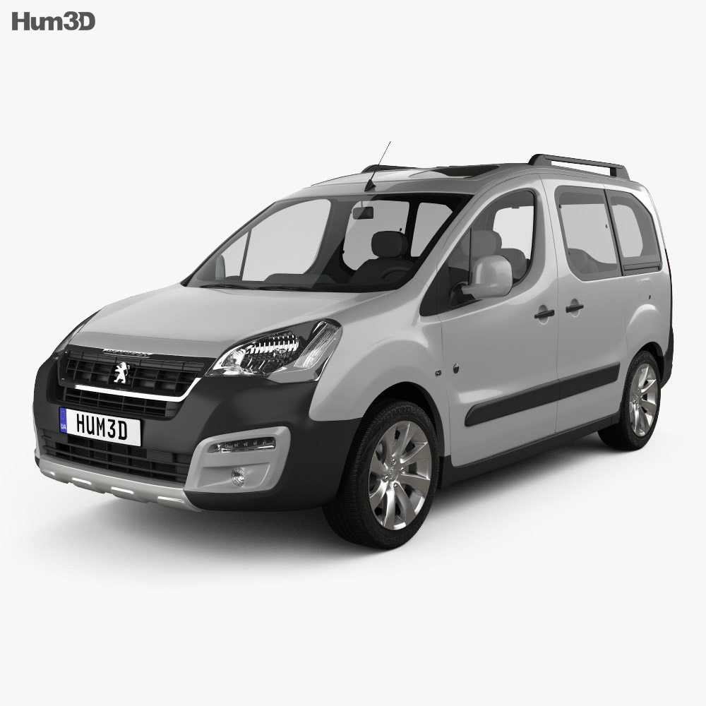 Peugeot Partner Tepee Outdoor 2015 3d model