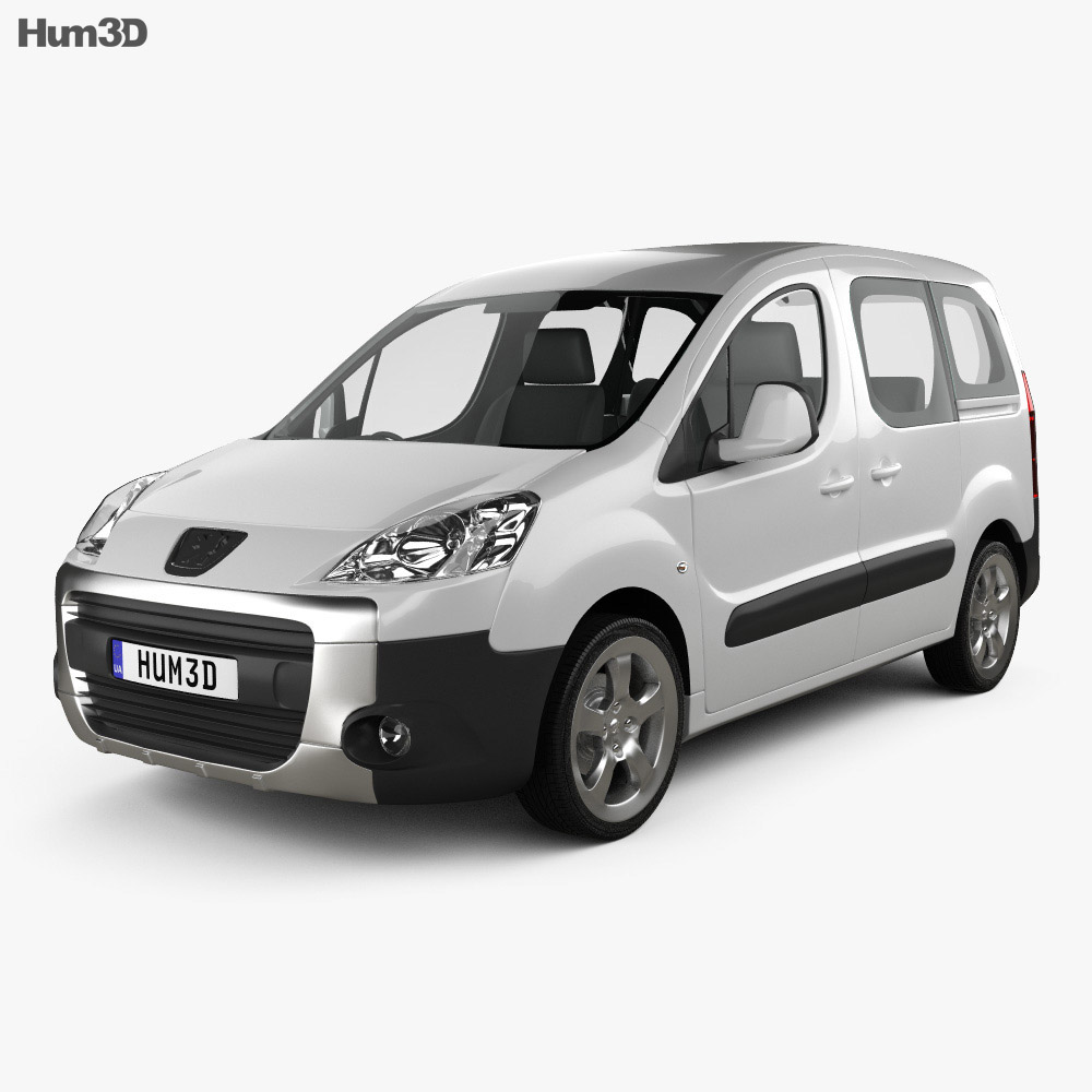Peugeot Partner Tepee 2011 3d model