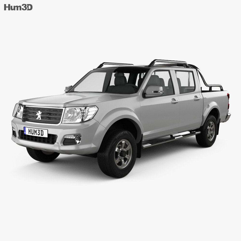 Peugeot Pick Up 4×4 2017 3d model