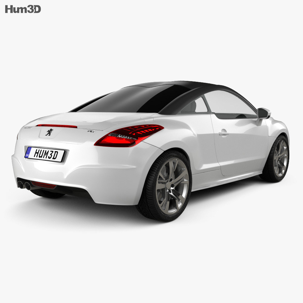 Peugeot RCZ coupe 2013 3d model